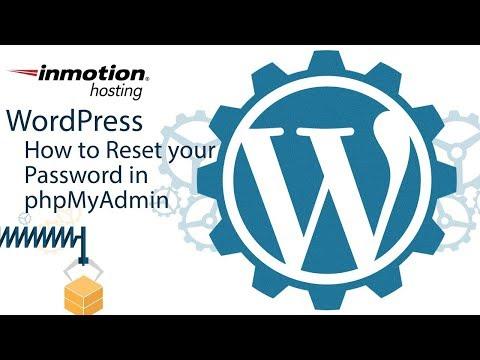 How to reset your WordPress Password in PHPmyAdmin