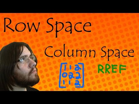 Finding Basis for Row Space and Column Space