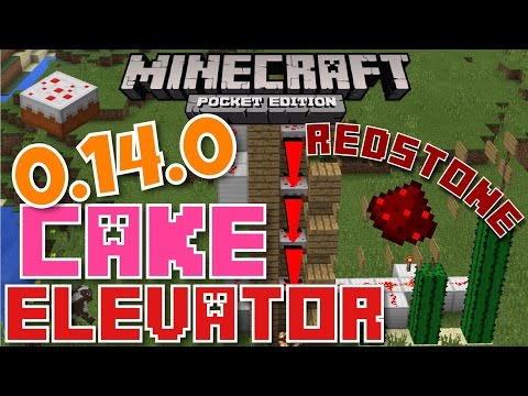 ✔️MCPE 0.14.0 CAKE ELEVATOR {REDSTONE} || Minecraft Pocket Edition 0.14.0