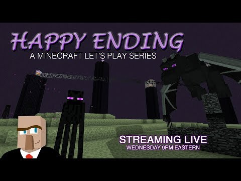 Minecraft HAPPY ENDING #32 Live Stream -- Treehouses and Fireworks