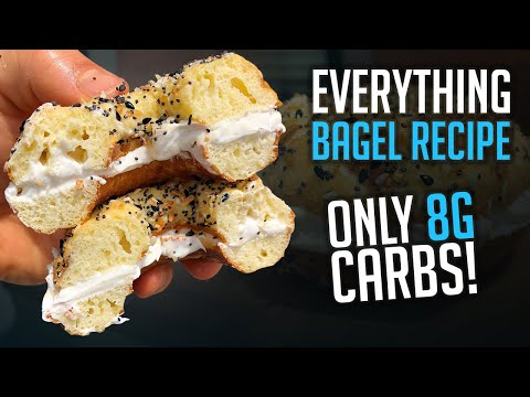 Low Cal Everything Bagel Recipe!! Less than 100 Cals! Only 8g Carbs!