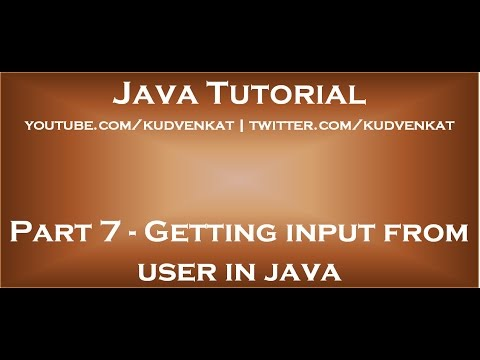 Getting input from user in java
