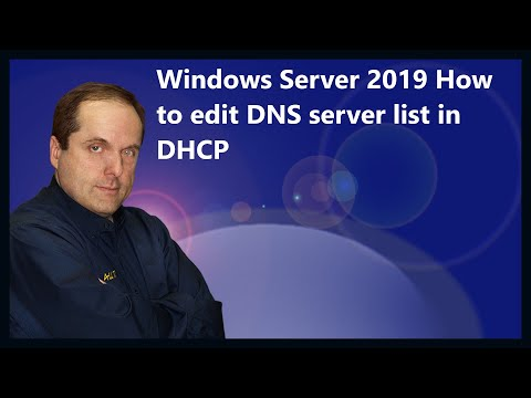 Windows Server 2019 How to edit DNS server list in DHCP