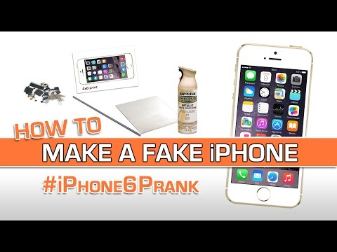 How to make a FAKE iPhone 6 (+Prank Revealed!)