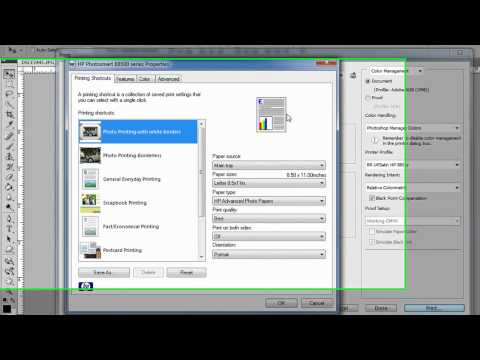 HP / PC / CS3 CS4 - How to use printer color ICC profiles with Photoshop and HP printer