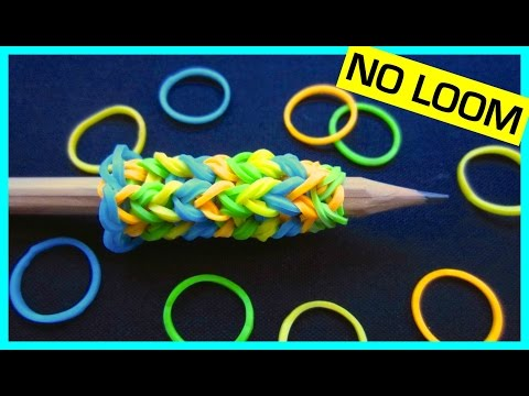 Rainbow Loom Pencil Grip without Loom | How to Make a Pencil Grip