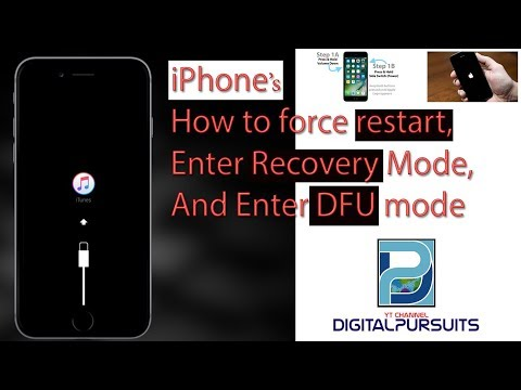How to force restart, enter Recovery Mode and enter DFU mode Apple iPhone (8/8+/7/7+/6+/6/5s/5c/5)