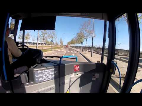 Barcelona airport T2 to T1 with free bus shuttle