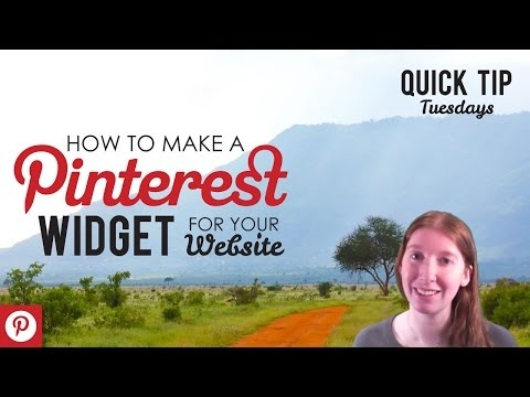 How to Make a Pinterest Widget for your Website