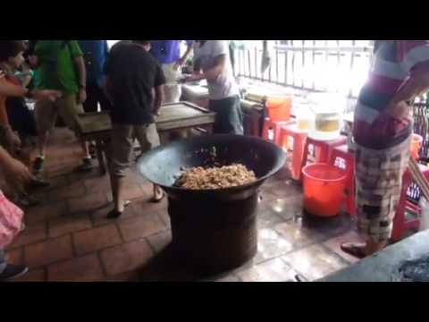 Making Puff Rice Candy Vietnam