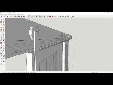 Barn Door Build - Sketchup