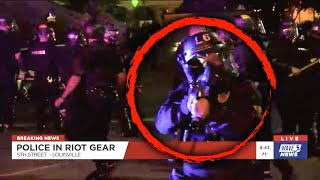 Louisville Cops Appear to Shoot TV Reporter with Pepper Ball