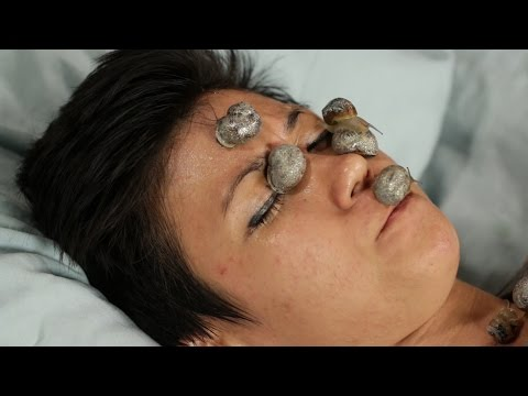 People Get Snail Facials For The
