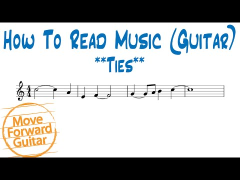 How to Read Music (Guitar) - Ties