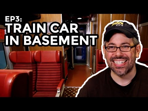 Man Builds Full Size Train in his Basement - COOLEST THING I'VE EVER MADE : EP3