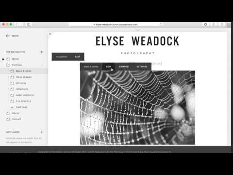 Squarespace Tutorial 1: Adding Images to your Gallery