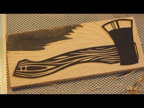 Hatchet Woodcut