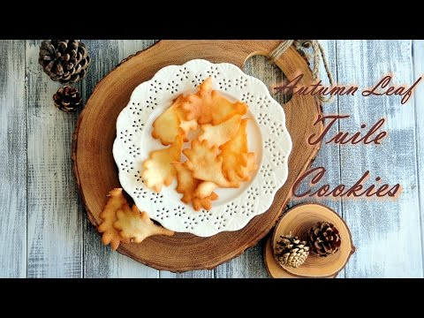 How to Make Autumn Leaf Tuile Cookies