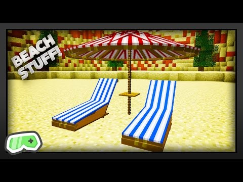 Minecraft - How To Get Beach Furniture