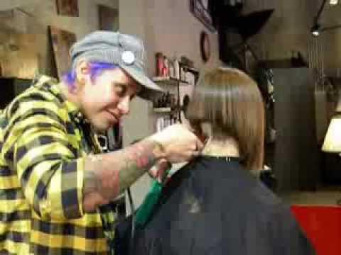 Hair Artist Jenelle detailing an A-Line Bob!