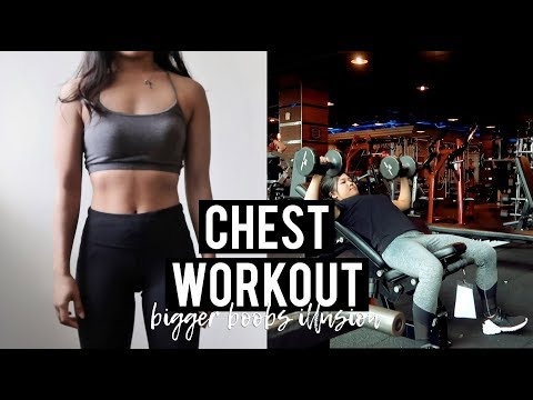 CHEST WORKOUT ROUTINE| Bigger Boobs Illusion - Shiely Venessa