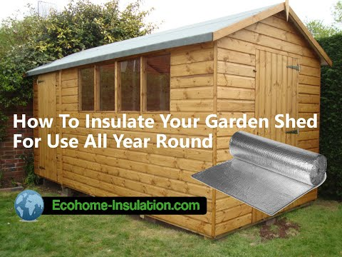 How to insulate your Garden Shed in 30 minutes with the EcoTec Reflective Insulation