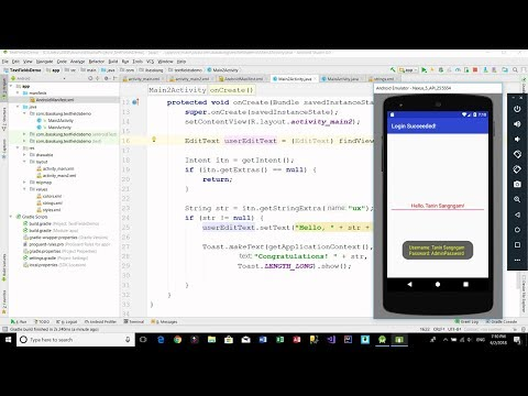 Android Login Screen - (EditText) Text Fields Example Part 3/3 (XML and JAVA)