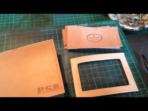 Hand carved leather Tudor rose part 2 of a custom leather w