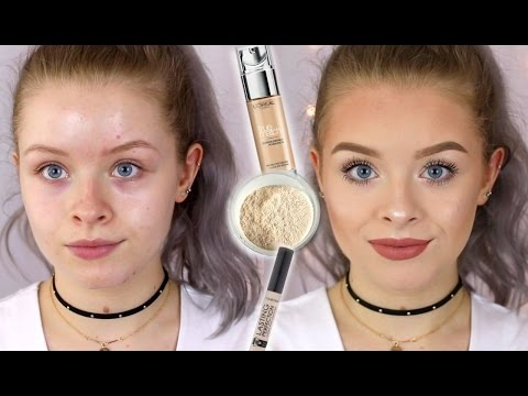 DRUGSTORE FULL COVERAGE FOUNDATION ROUTINE | sophdoesnails