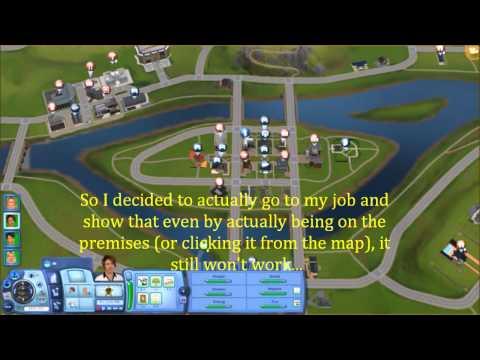 Working Glitch {Sims 3 work glitch}
