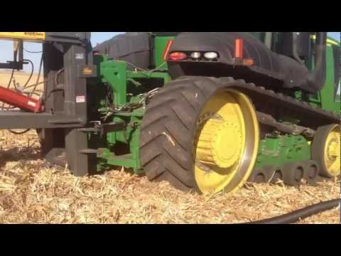 Tiling with Wayne's Tile Plow and Deere 9560RT