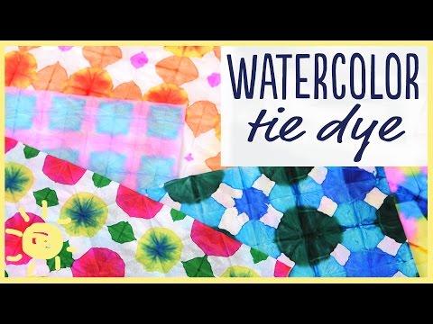 DIY | Watercolor Tie Dye