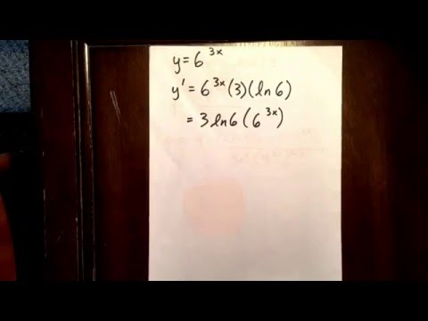 6 exponential function: derivatives