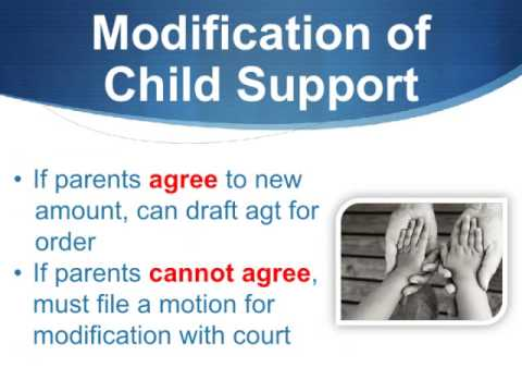 How To Modify (Decrease or Increase) Child Support