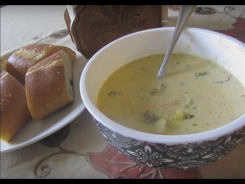 How to make broccoli cheddar soup (Crock pot)