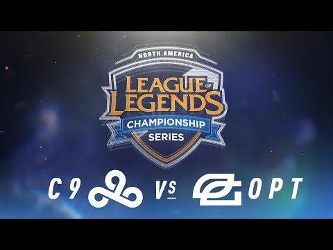 C9 vs. OPT - Week 3 Day 1 | NA LCS Spring Split | Cloud9 vs. OpTic Gaming (2018)