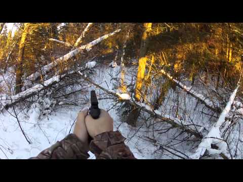 rabbit hunting in wisconsin with a browning buckmark .22 pistol