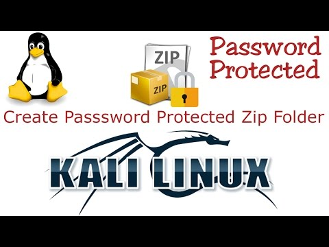 How to Create Password Protected Folder In Kali Linux