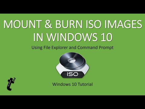How To Mount and Burn ISO Images in Windows 10 Tutorial | The Teacher