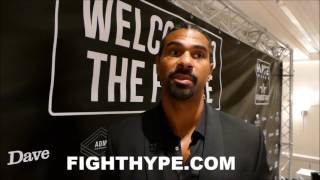 "DAVID HAYE ON TONY BELLEW REMATCH IN DECEMBER: ""THE PARTIES KNOW WHO BRINGS WHAT TO THE TABLE"""