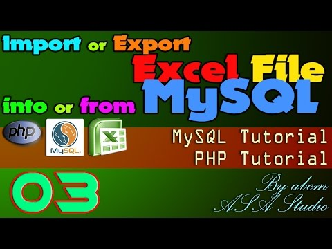 Import or Export Excel File into or from MySQL, 3, Read Data from CSV and Insert into MySQL, Excel P