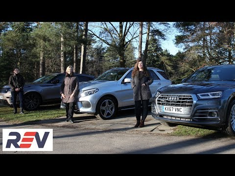 The REV Test: Luxury SUVs. Audi Q5 vs Mercedes-Benz GLE vs Range Rover Velar.