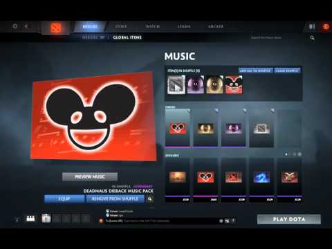 Dota 2 music: how to purchase music. I purchased Deadmau5 Pack via mac