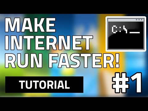#1 How To Make Your Internet Speed Faster For Free (Using CMD) HD