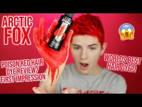 ARCTIC FOX POISON HAIR DYE REVIEW   IS IT WORTH THE HYPE?!   HOW I DYE MY HAIR RED   KEVIN RUPARD