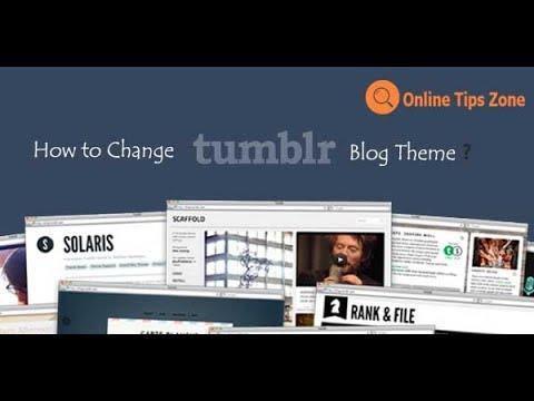 How to Change Tumblr Theme