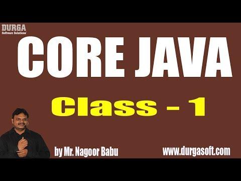 Learn Core Java Programming Tutorial Online Training by Nagoor Babu Sir On 31-05-2018