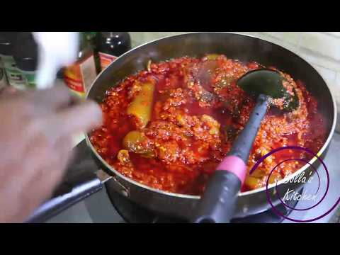 How To Make Fried Palm Oil Stew - Bollas'Kitchen Style