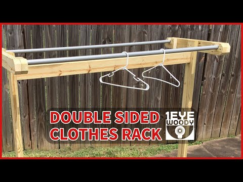 Making A Double Sided Clothes Rack For A Yard Sale