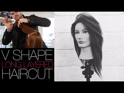 V-SHAPED HAIRCUT - How To Cut A Long Layered V SHAPE Haircut | MATT BECK VLOG #22